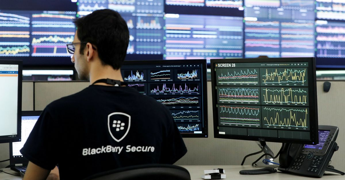 BlackBerry shares soar as trading volume surges